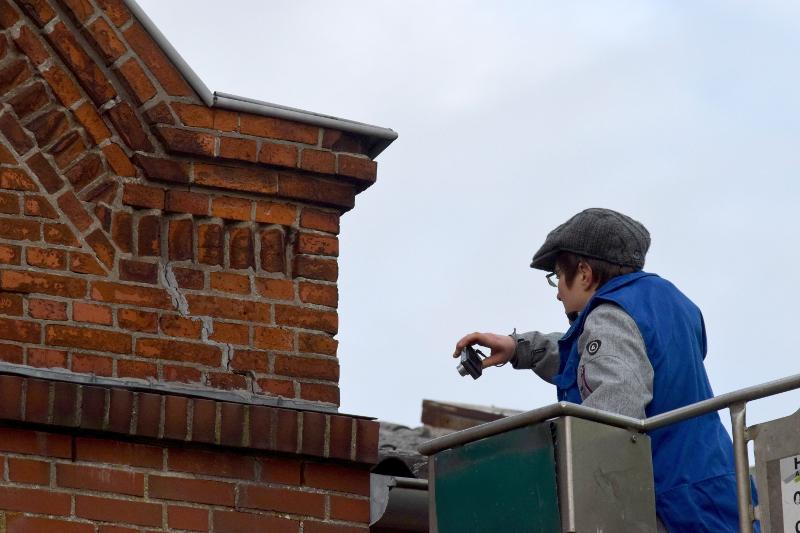 reparierte Risse im Mauerwerk