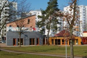 Neubau und Bestandsbau Bürgerhaus Lenzsiedlung