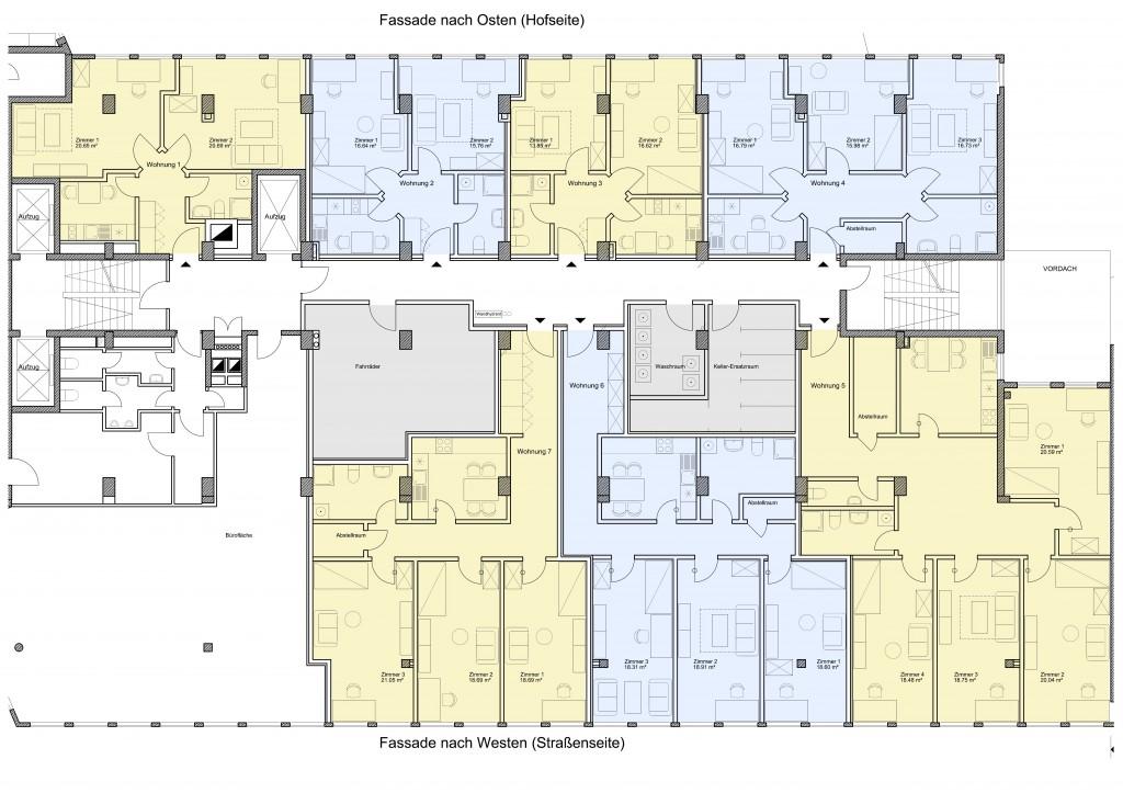 So sieht die Planung für WG-Wohnungen aus.