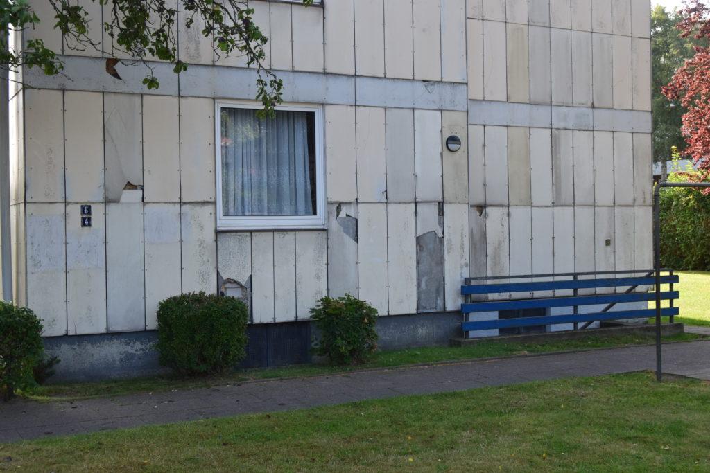 Bauschäden an der Fassade wecken falschen Eindruck.
